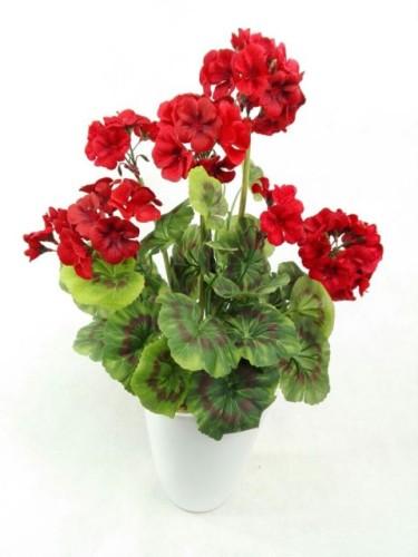 Pelargonia Czerwona Bukiet Bez Doniczki 22951a Sztuczne Kwiaty Na Balkon Na Taras